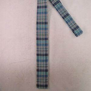 J. Crew Men's Flat/Square End Plaid Tie